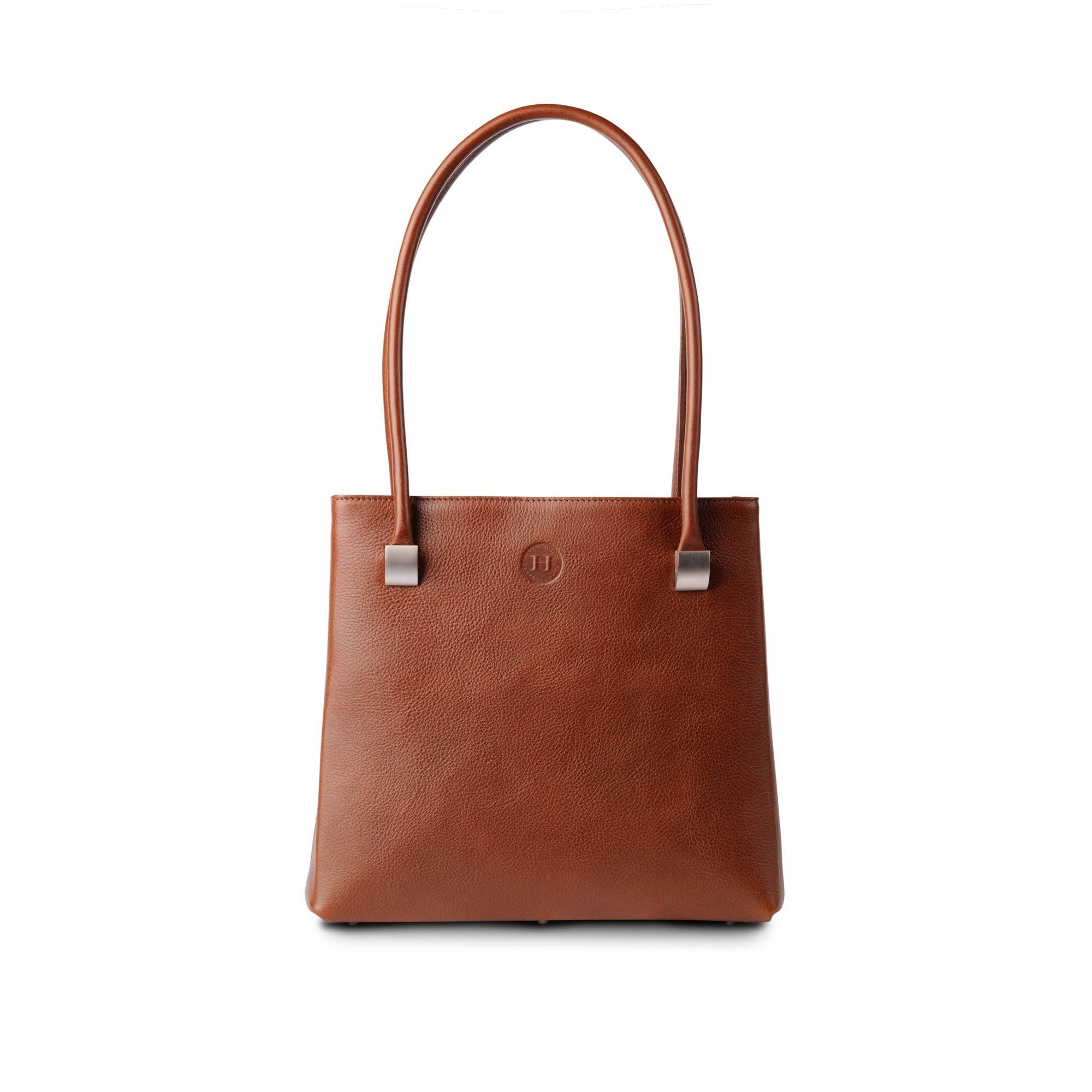 Aoife Leather Shoulder Bag Chestnut - Holden Leathergoods, leather bags handmade in Ireland