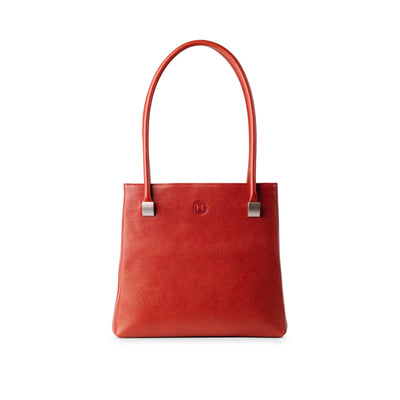 Aoife Leather Shoulder Bag Red - Holden Leathergoods, leather bags handmade in Ireland