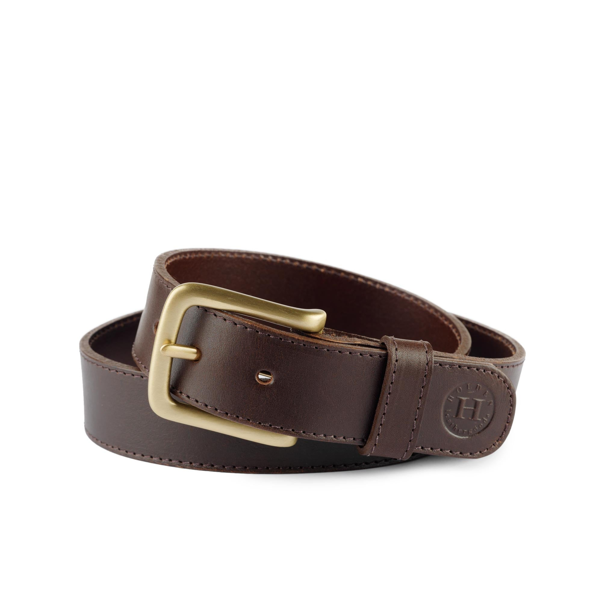 Holden Casual Leather Belt CB2 Brown - Holden Leathergoods, leather bags handmade in Ireland