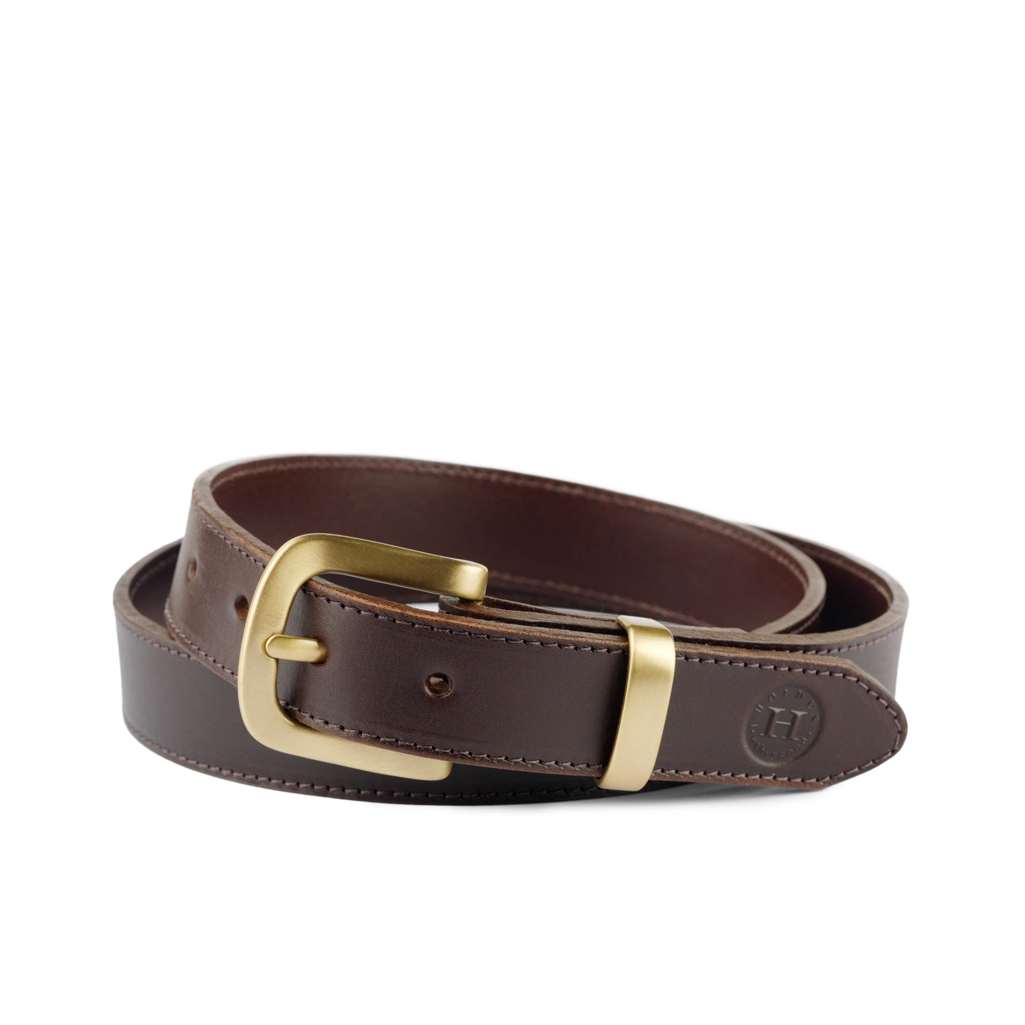 Holden Casual Leather Belt CB1 Brown - Holden Leathergoods, leather bags handmade in Ireland
