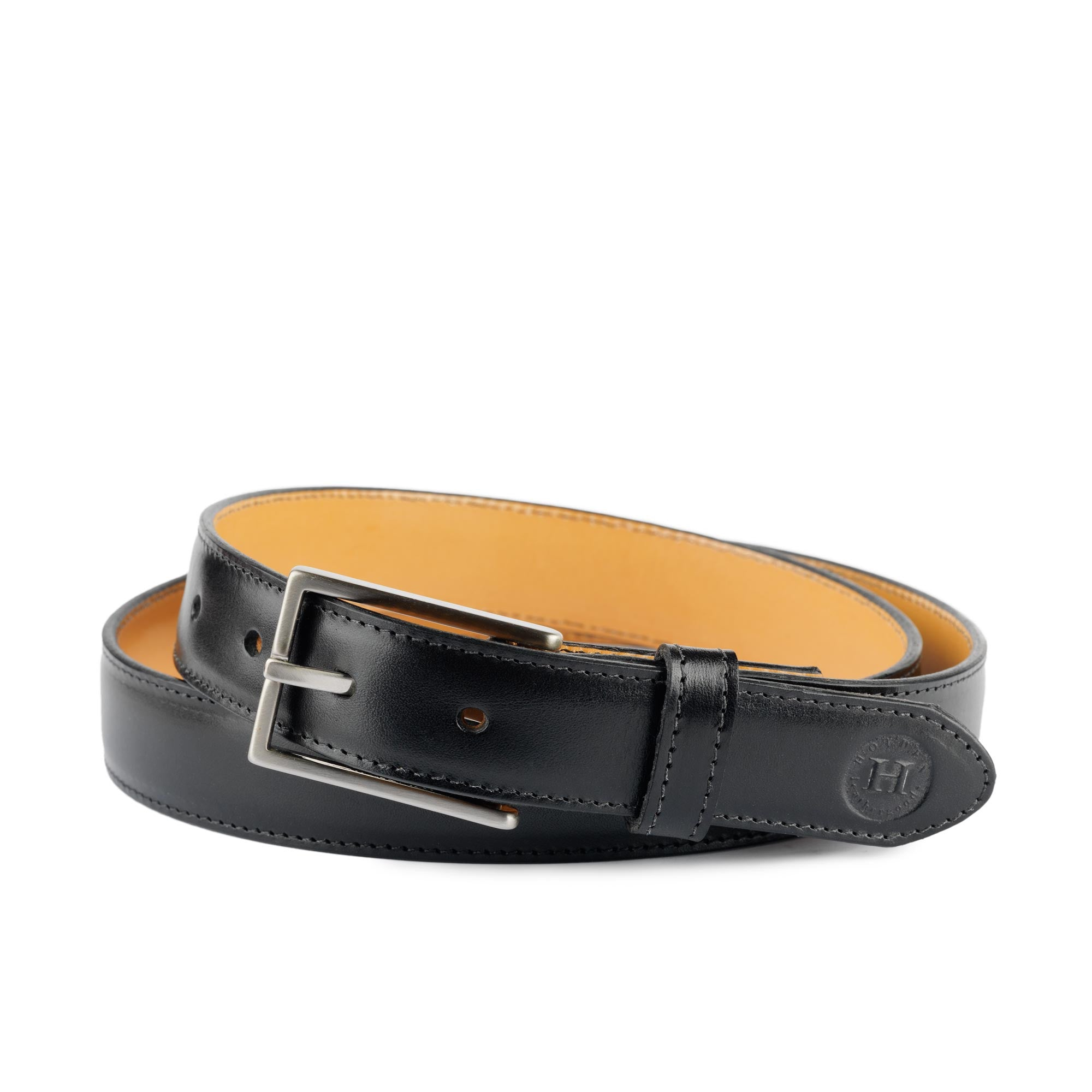 Holden Leather Dress Belt DB1 Black - Holden Leathergoods, leather bags handmade in Ireland