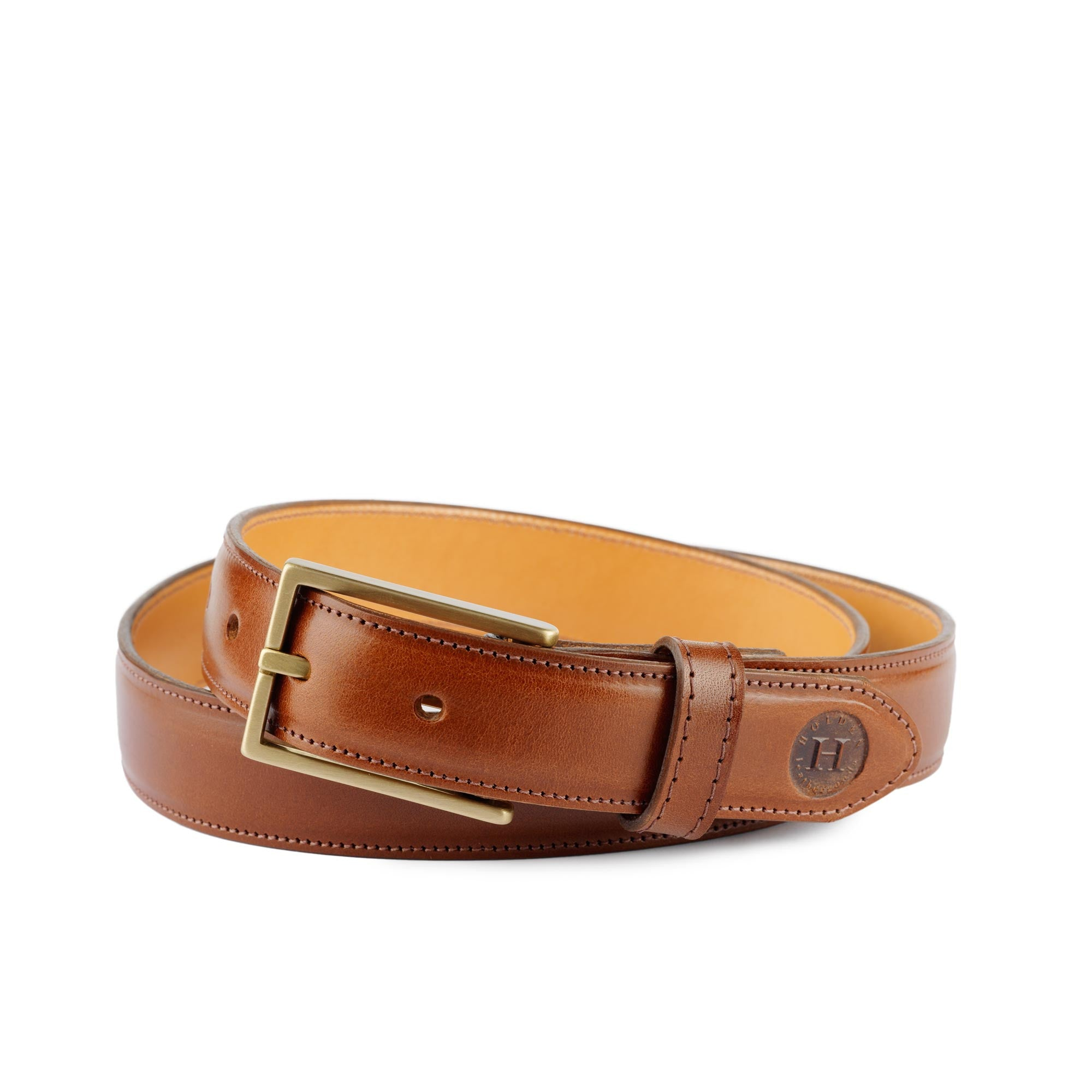Holden Leather Dress Belt DB1 Chestnut - Holden Leathergoods, leather bags handmade in Ireland