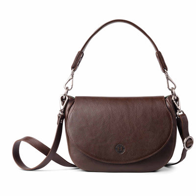 Roisín Leather Saddle Bag Brown - Holden Leathergoods, leather bags handmade in Ireland