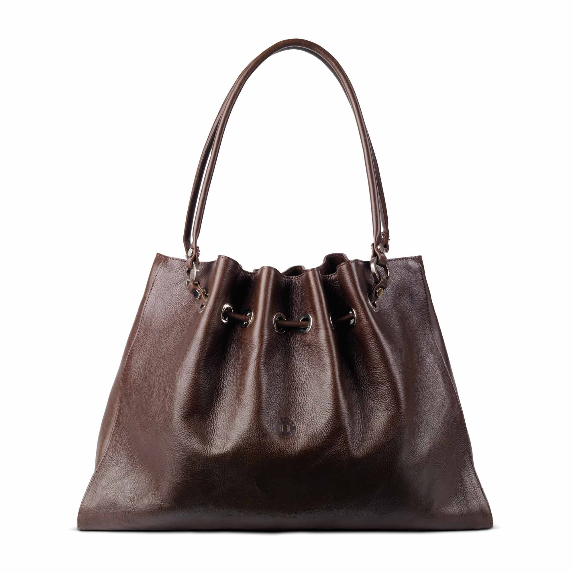 Siobhan Large Leather Tote Brown - Holden Leathergoods, leather bags handmade in Ireland