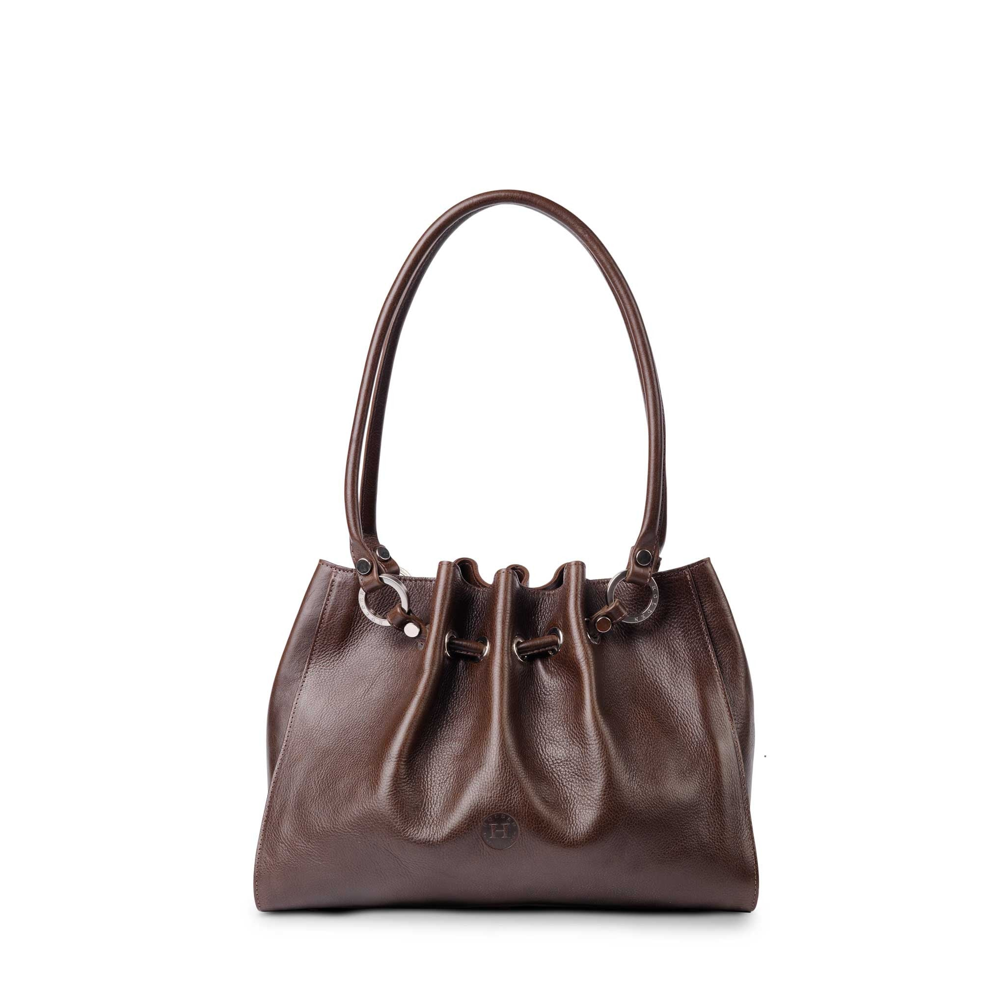 Siobhan Medium Leather Tote Brown - Holden Leathergoods, leather bags handmade in Ireland