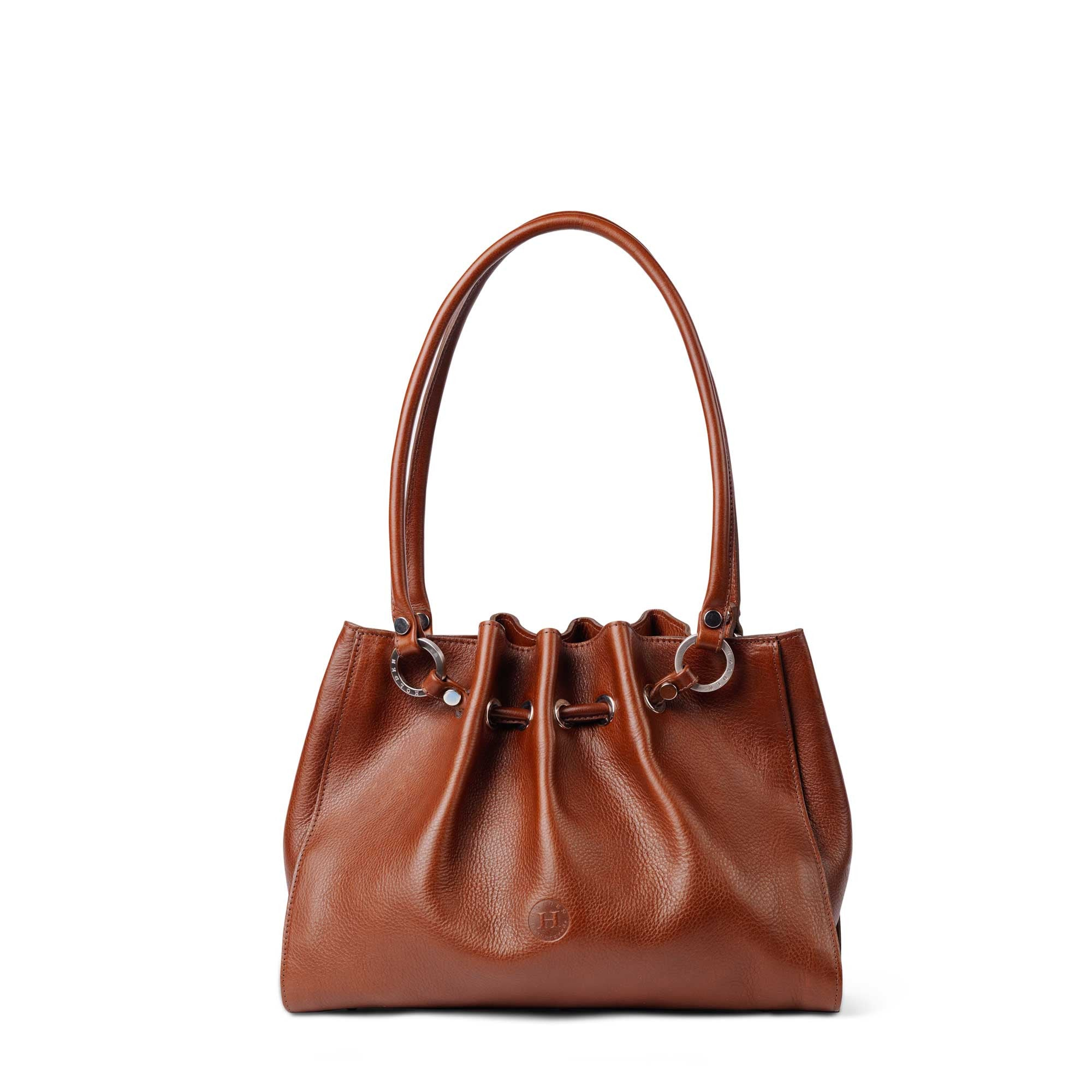 Siobhan Medium Leather Tote Chestnut - Holden Leathergoods, leather bags handmade in Ireland