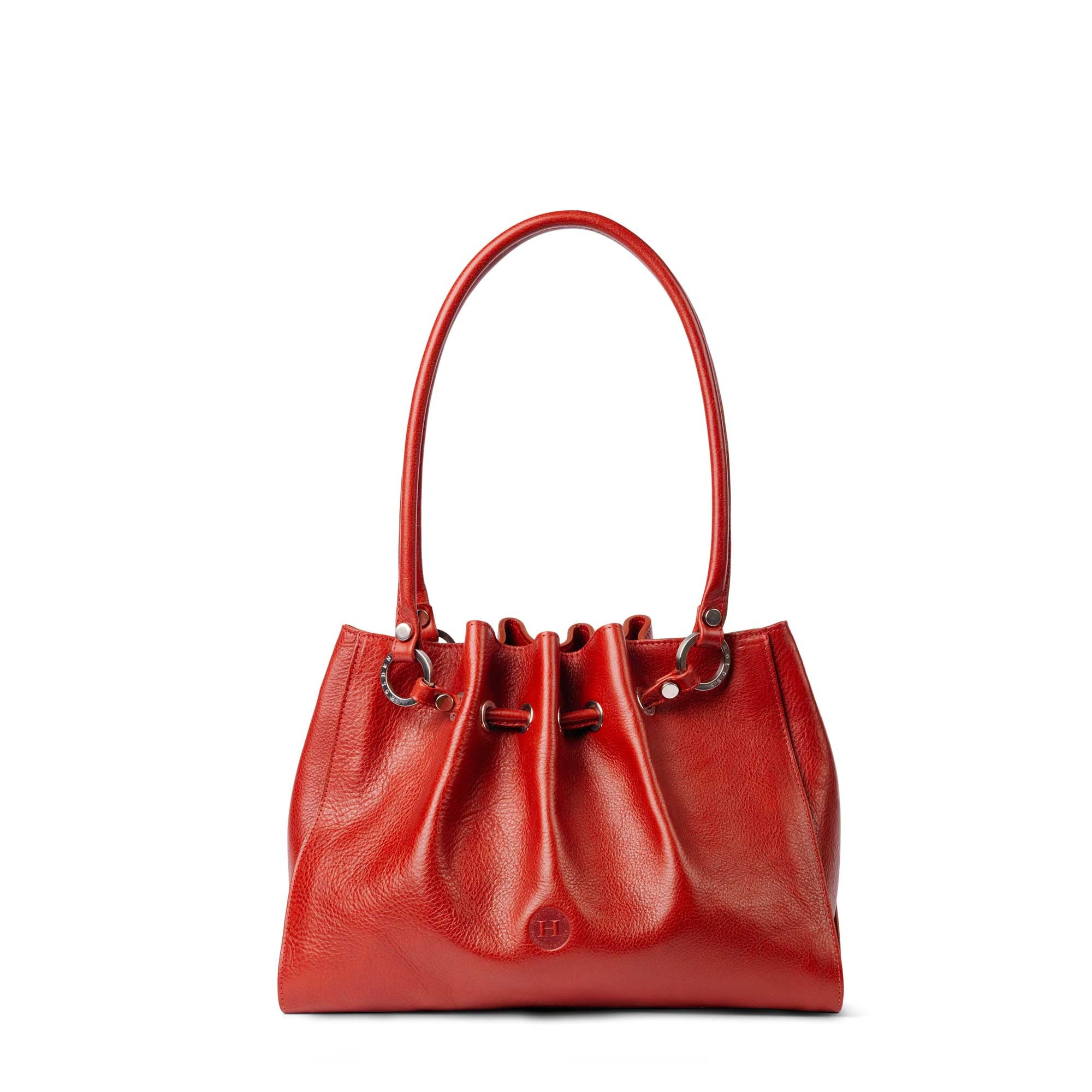 Siobhan Medium Leather Tote Red - Holden Leathergoods, leather bags handmade in Ireland