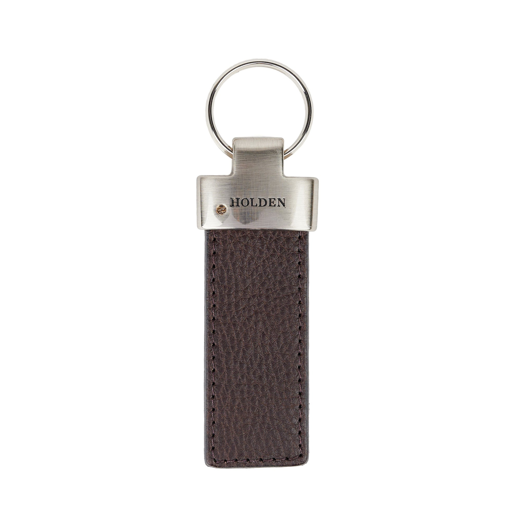 Holden Brass Key Fob - Dark Brown