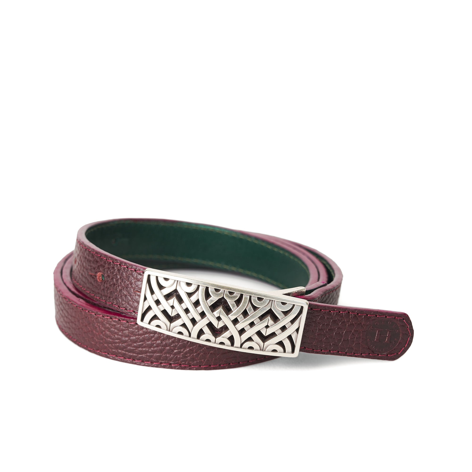 Holden Dúnbeg Celtic Belt - Burgundy