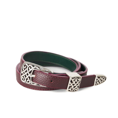 Holden Gallarus Celtic Belt - Burgundy