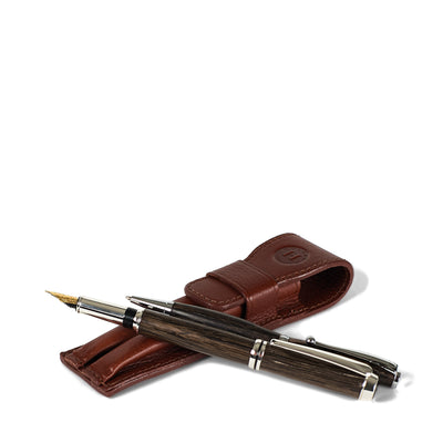 Holden 2-Pen Holder & Pen Set - Chestnut