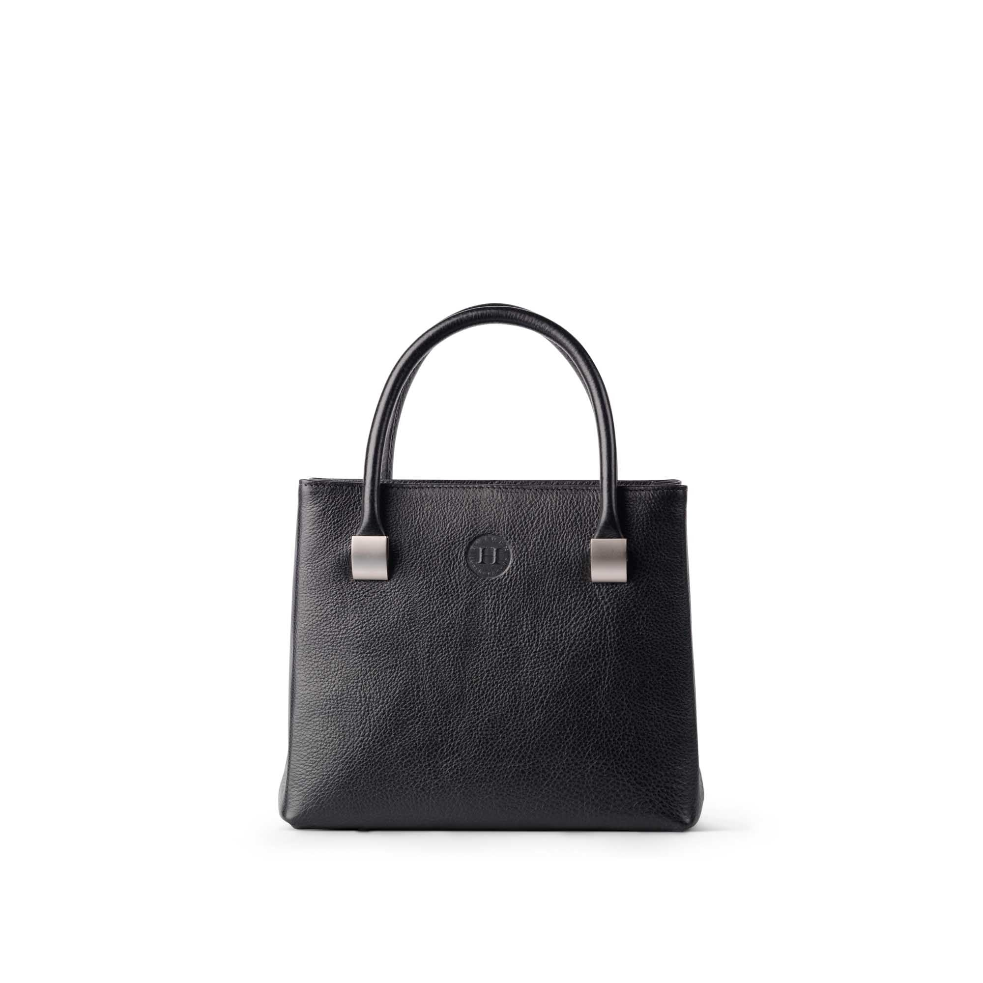 Aoife Leather Handbag Medium Black - Holden Leathergoods, leather bags handmade in Ireland