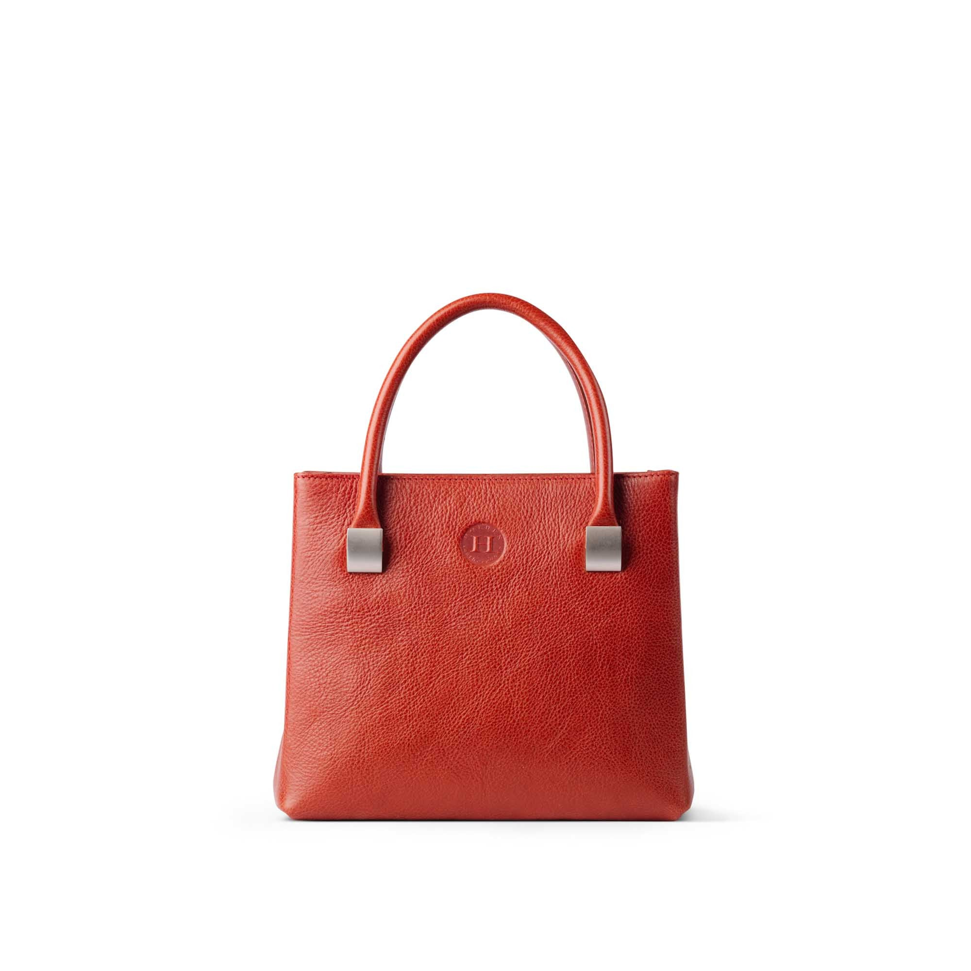 Aoife Leather Handbag Medium Red - Holden Leathergoods, leather bags handmade in Ireland