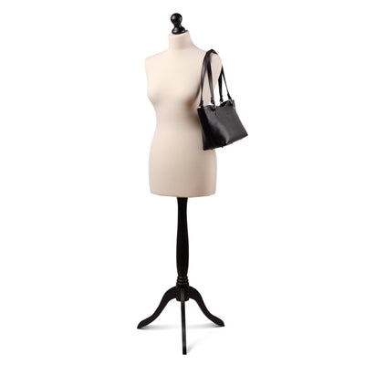 Caitlin Medium Leather Tote Black - Holden Leathergoods, leather bags handmade in Ireland - 2
