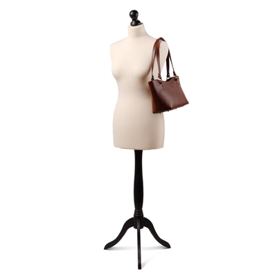 Caitlin Medium Leather Tote Chestnut - Holden Leathergoods, leather bags handmade in Ireland - 2