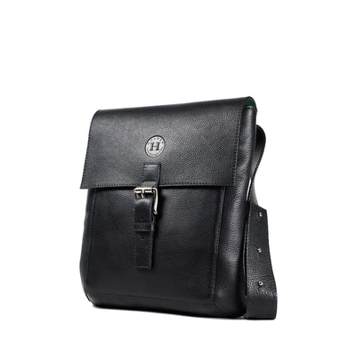 Holden Compact Messenger Bag - Black