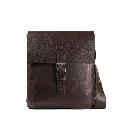 Holden Compact Messenger Bag - Dark Brown