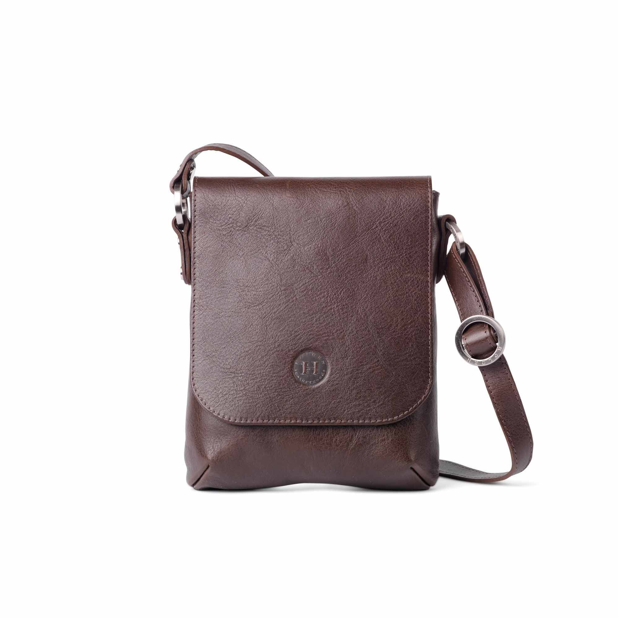 899287a8f3a Eithne Medium Leather Crossover Bag Brown - Holden Leathergoods, leather  bags handmade in Ireland