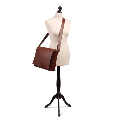 Holden Leather Laptop Bag Chestnut - Holden Leathergoods, leather bags handmade in Ireland - 3