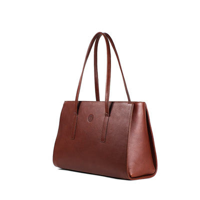 Isabel Large Shoulder Bag - Chestnut