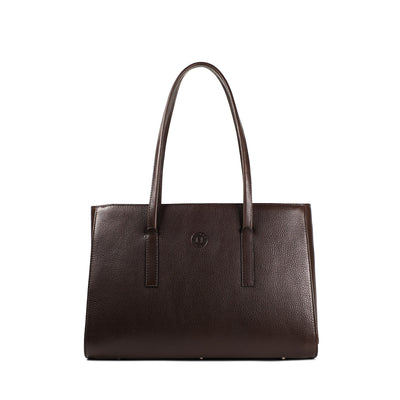 Isabel Large Shoulder Bag - Dark Brown