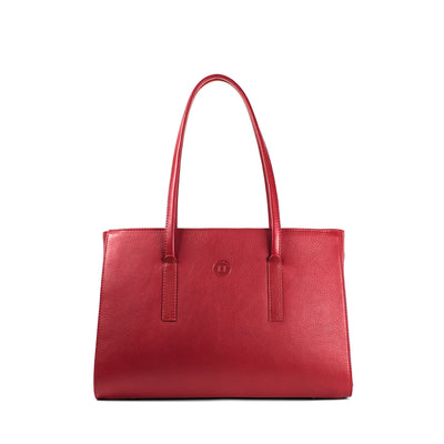 Isabel Large Shoulder Bag - Red