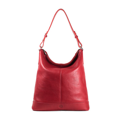 Orla Large Zip-Top Shoulder Bag - Red