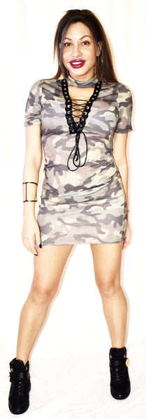 "The ""Bleeker"" Camo Dress"