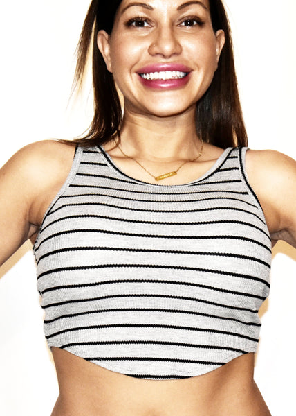 "The ""Grove Street"" Striped Crop Top"