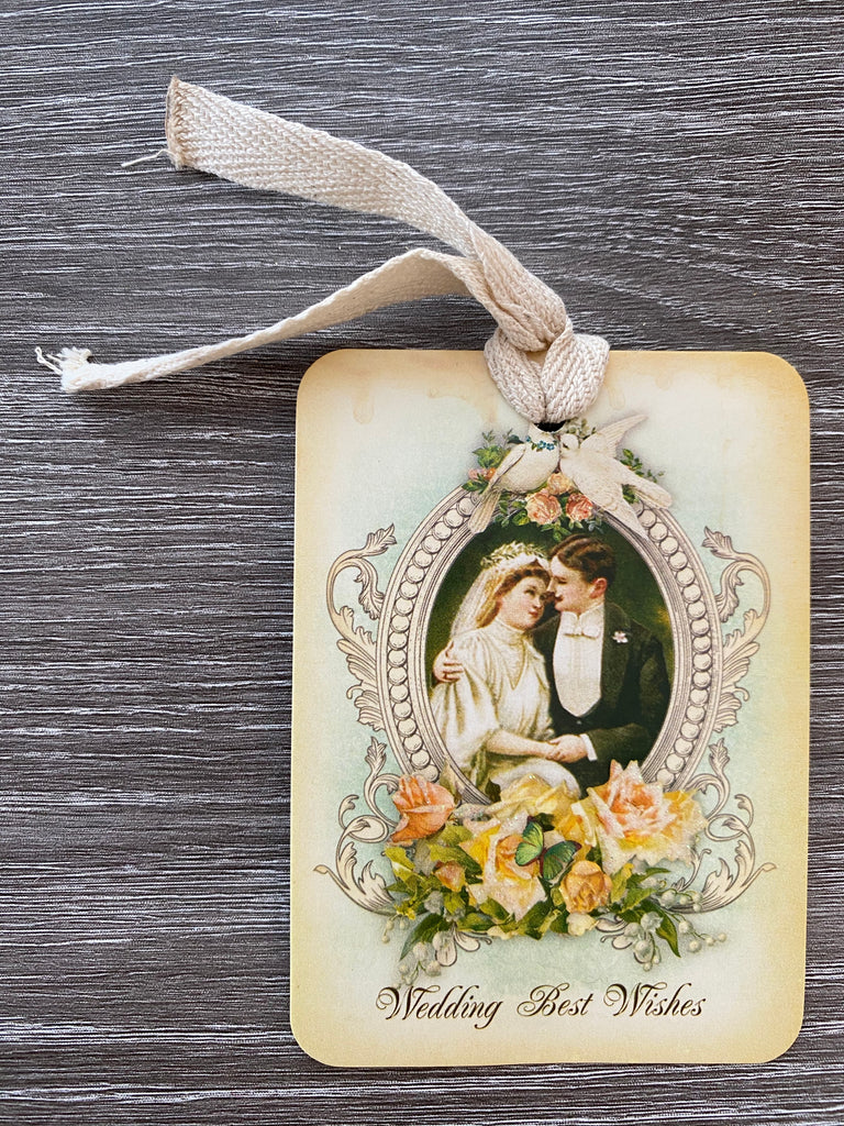 Vintage wedding GIFT Tag