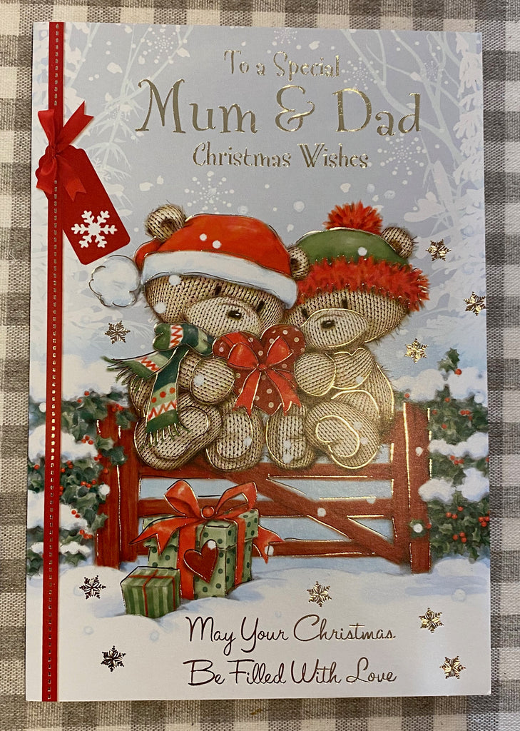 Christmas Wishes Card - Special Mum & Dad