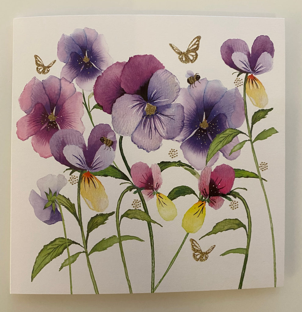 Pansy Card - Blank