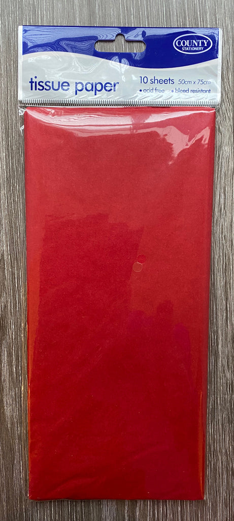 RED Tissue Paper - 10 Sheets