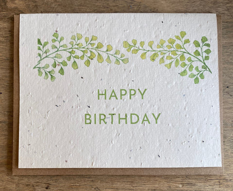 Happy Birthday - Seed Card
