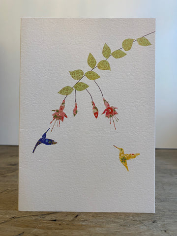 Fuchsia & Two Hummingbirds