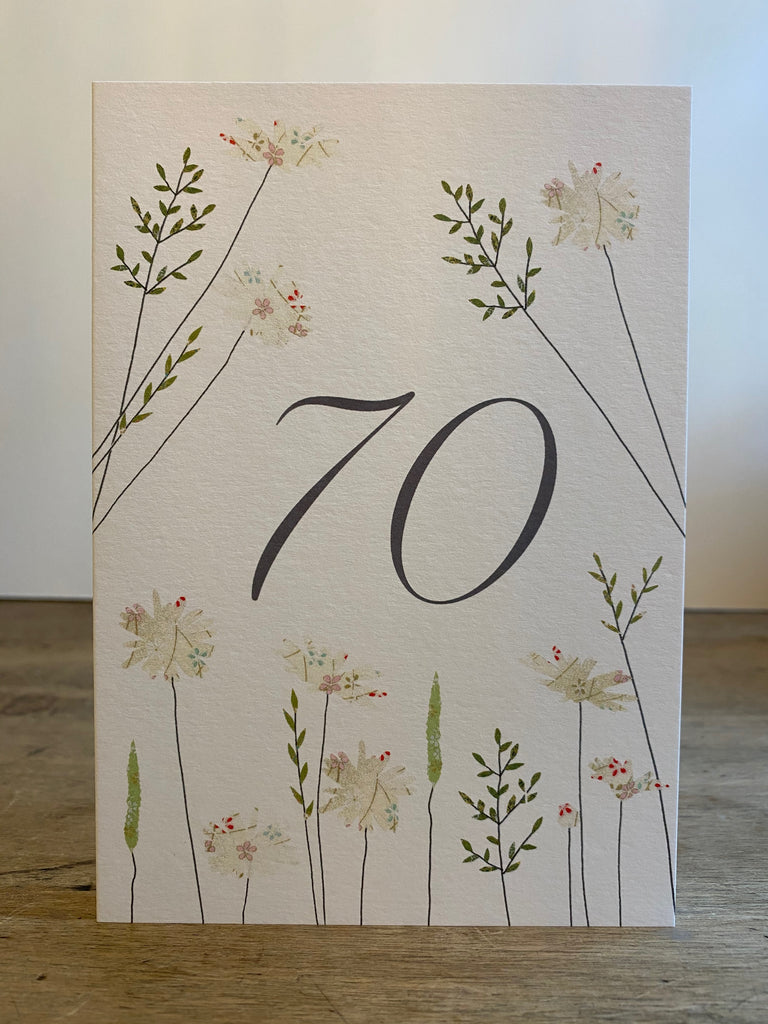 70 Birthday - Daisies and Grass