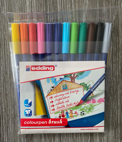 Colour Brush Pens - Edding