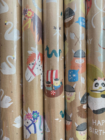 Gift Wrap - Nature Kids