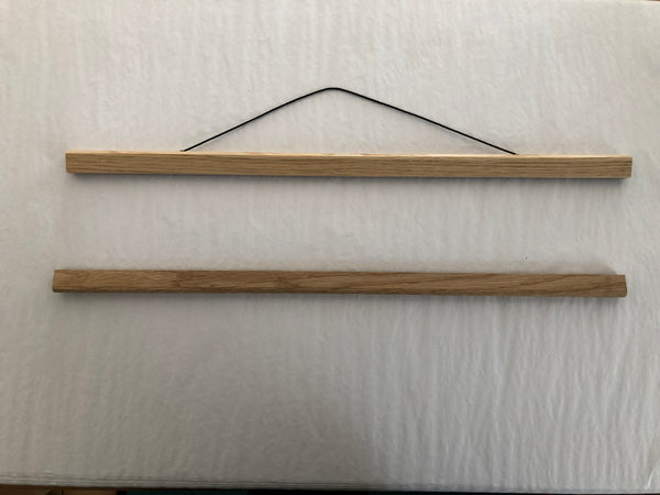 "8.5 "" Solid Oak Poster Hanger 216mm wide"
