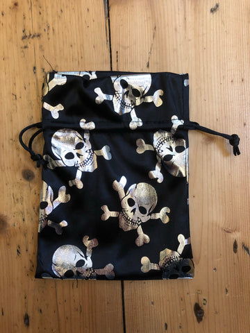 Skull and Crossbones Bags - fabric drawstring