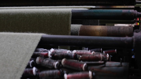 loden fabric being brushed