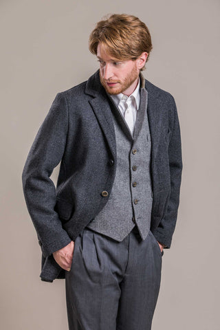 refined wool overcoat