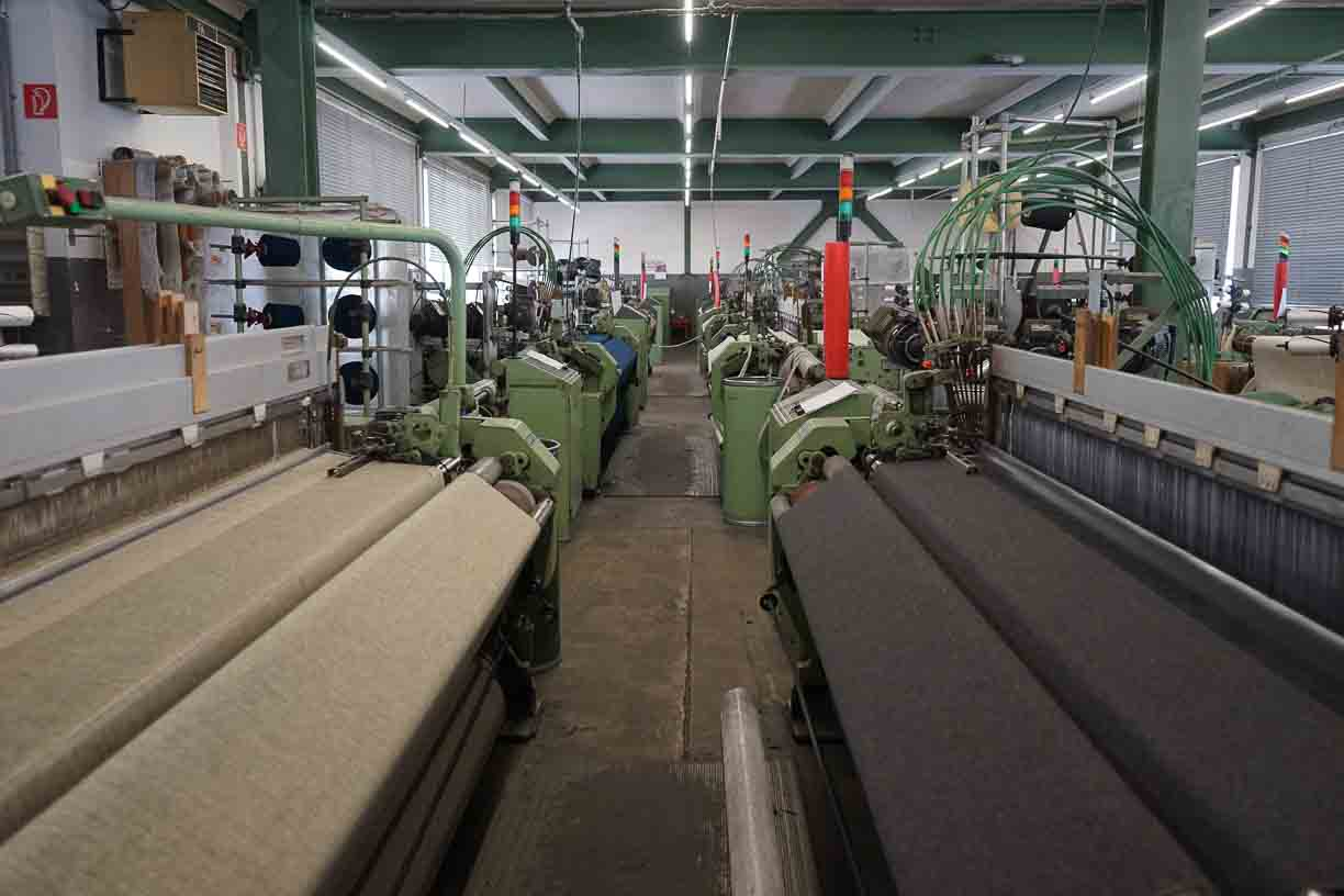 traditional wool looms at the 4th generation run austrian Mill in Schladming