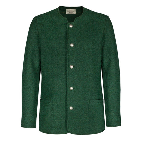 Robert W. Stolz Men's Green Boiled Wool Jacket