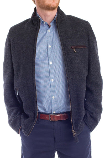 Felix - Zippered Pure Wool 'Walk' Jacket