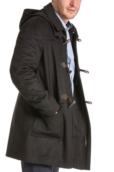 Markus - Men's Loden Wool Duffel Coat with Detachable Hood