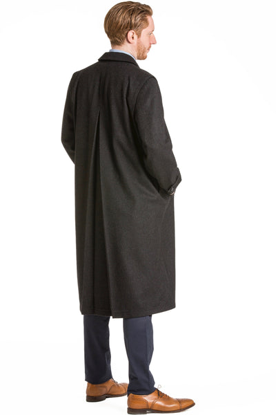 Richard - 100% Cashmere Men's Full Length Loden Overcoat