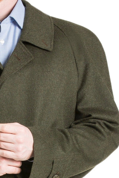 Rory - Men's Travel Weight Classic Loden Wool Overcoat with Raglan Sleeves