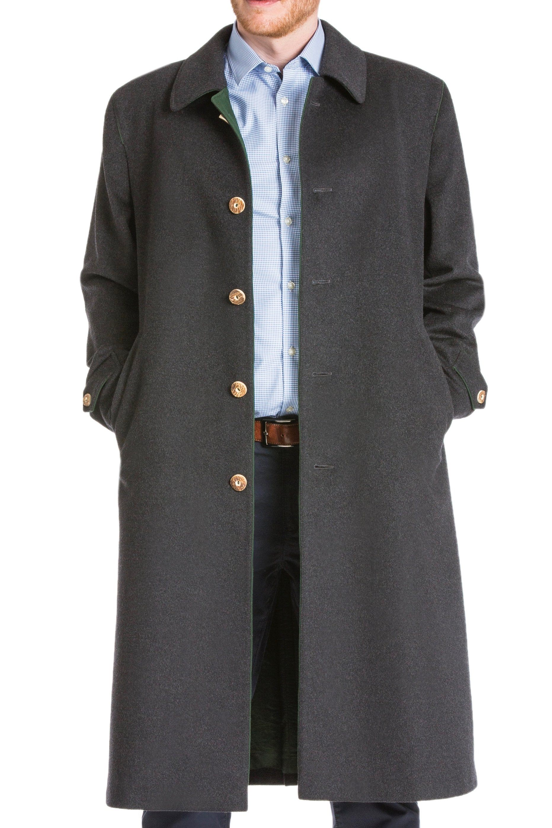 """Shiver No More"" Men's Classic Loden Overcoat"