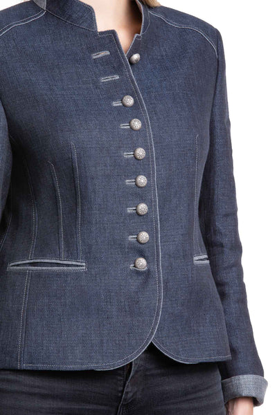 Petra - 100% Linen Spring Womens  Riding Jacket